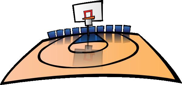 basketball court clipart
