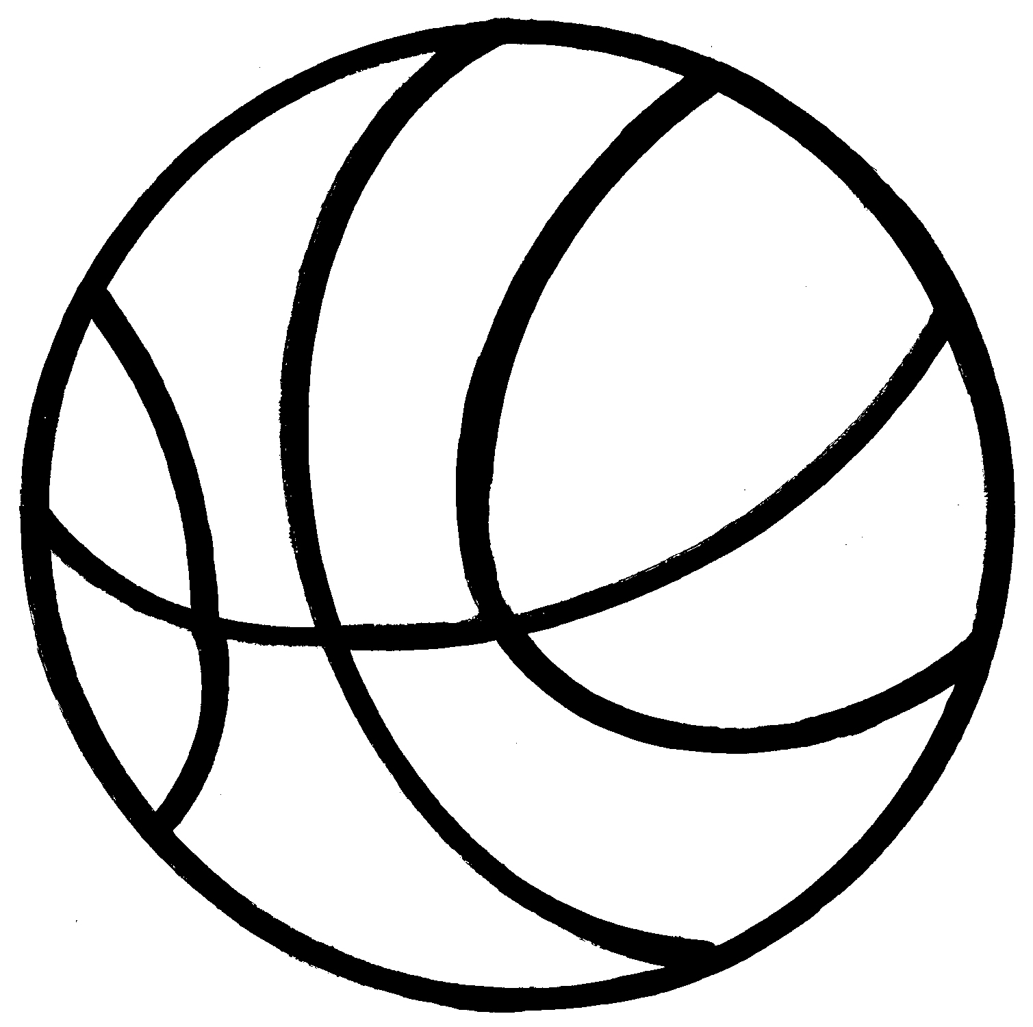 basketball hoop clipart black and white