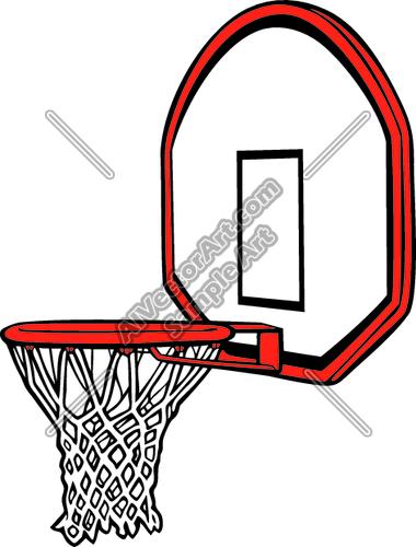 Basketball Hoop Clipart-basketball hoop clipart-5