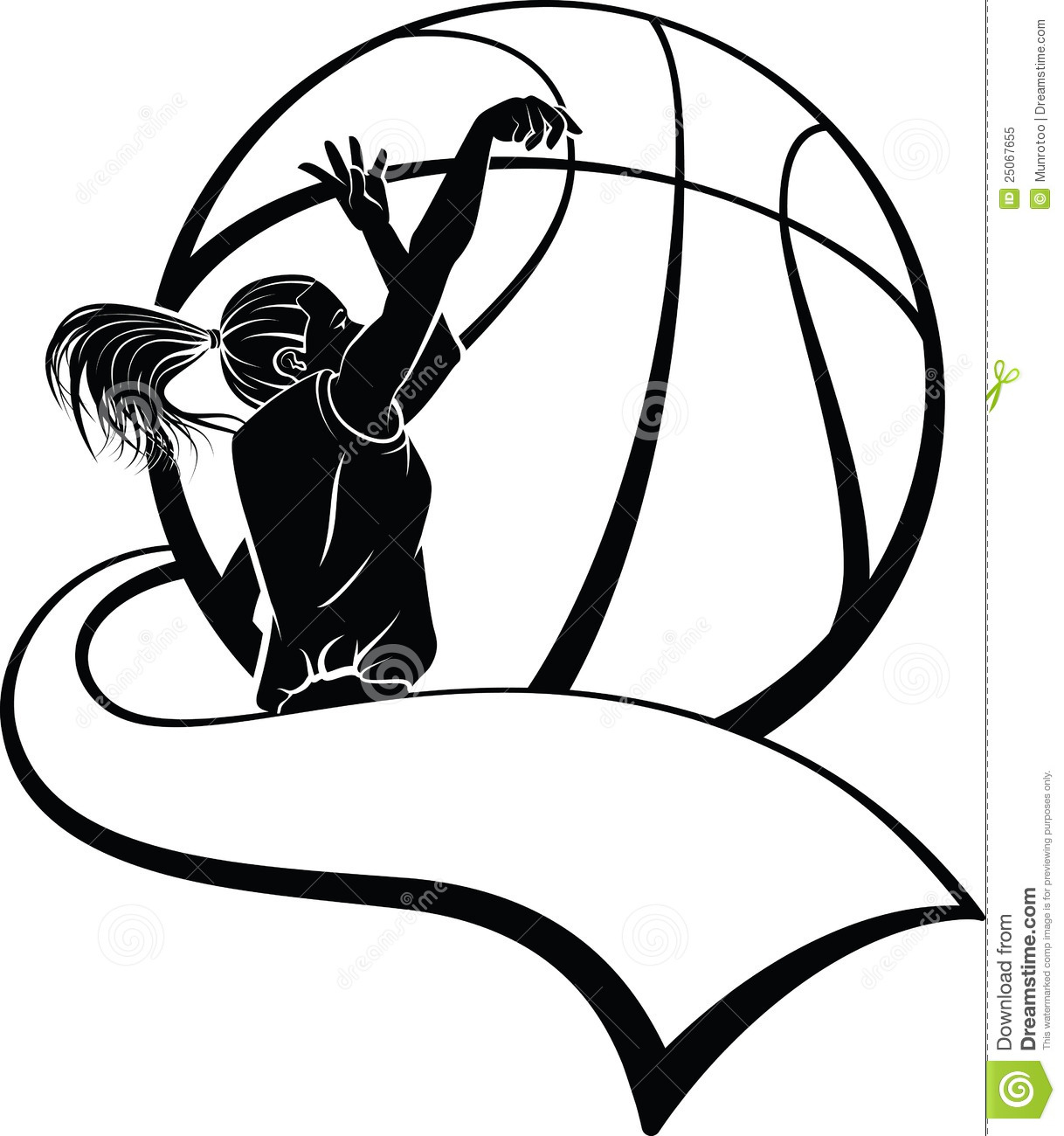 basketball player shooting clipart