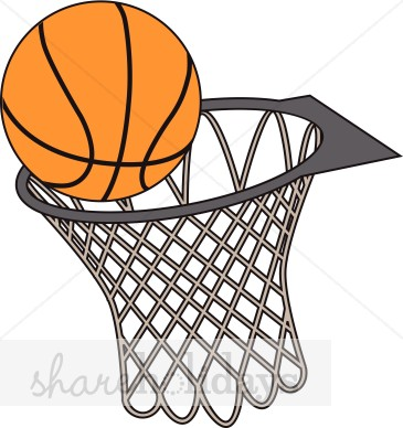 Basketball And Hoop Clipart Party Clipart Backgrounds