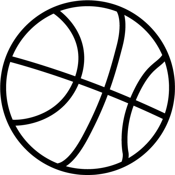 Basketball black. And white clipart