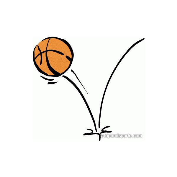Basketball Clipart Bouncing Basketball ❤ liked on Polyvore featuring basketball and clip art
