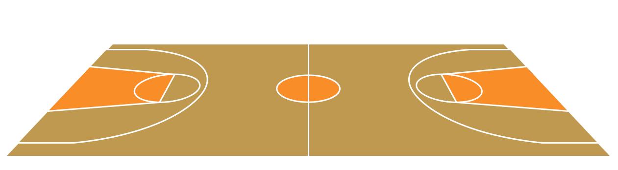 Basketball court clipart 9