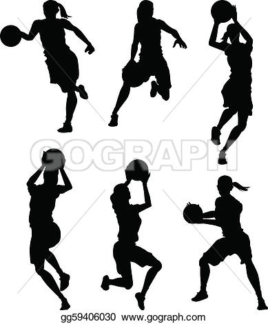 Basketball Female Women Silho - Girls Basketball Clip Art