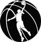 Basketball Female Women Silhouettes u0026middot; Girl Basketball Silhouette