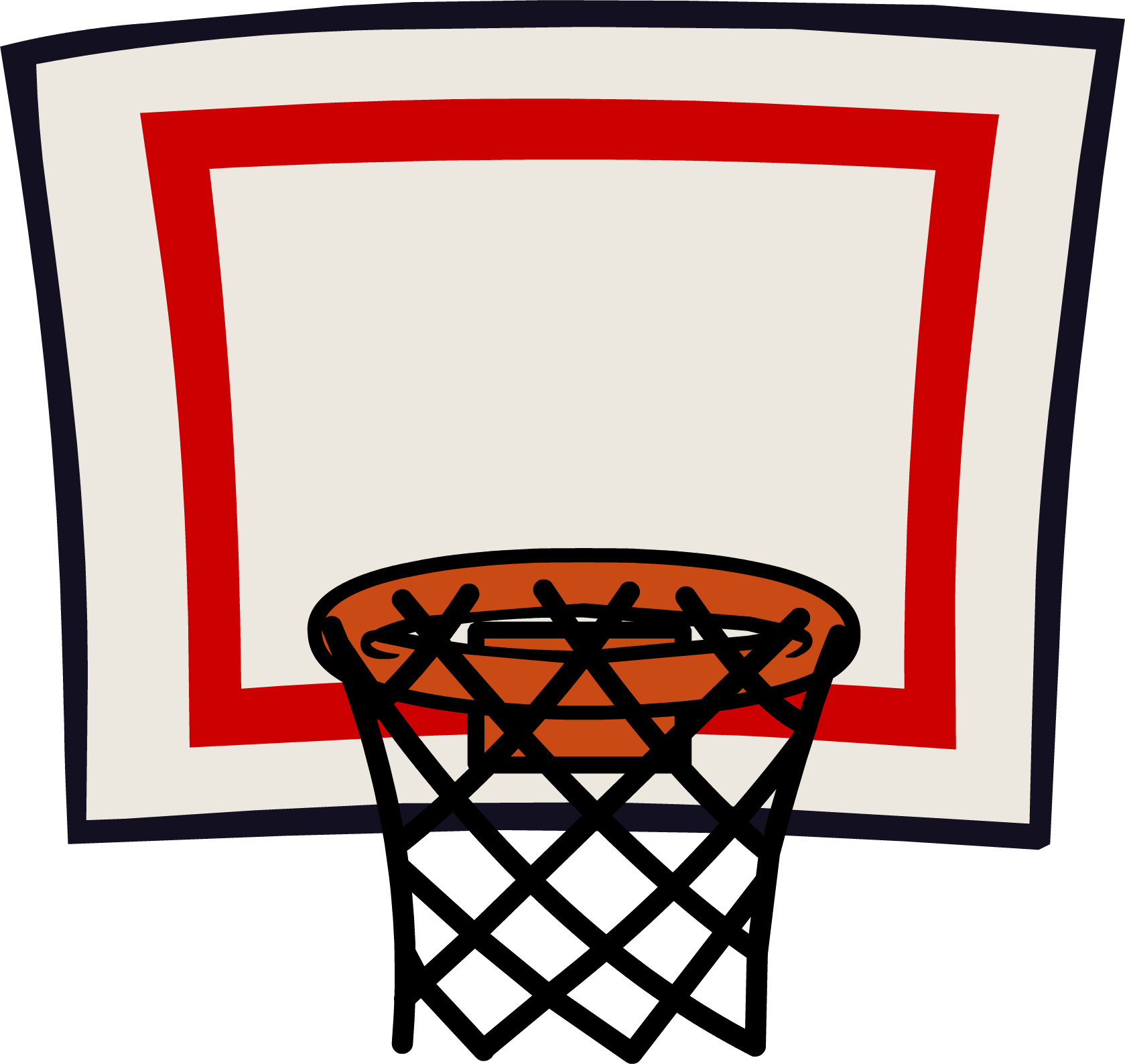 Basketball goal clipart - .