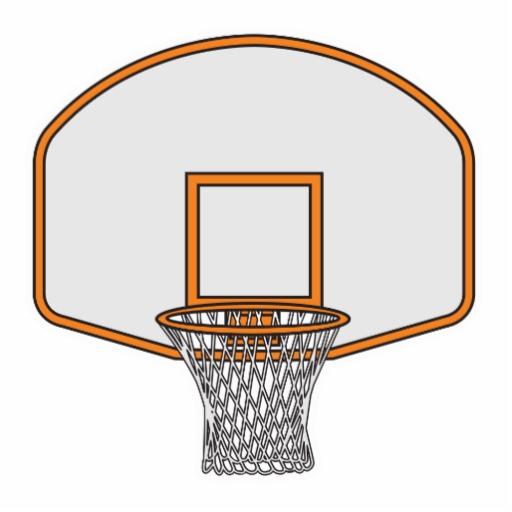 Basketball hoop backboard .