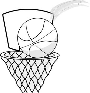 Basketball Hoop Clip Art Black and White-Basketball Hoop Clip Art Black and White-14