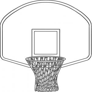 Basketball Hoop Clipart Black And White - Gallery