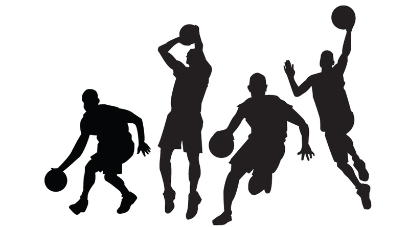 basketball player clipart black and whit-basketball player clipart black and white-12