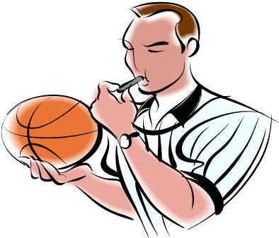 Basketball Referee Clipart #1