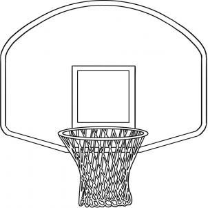 Basketball Rim And Hoop Clip .