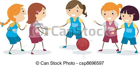 Basketball Girls - Csp8696597-Basketball Girls - csp8696597-0