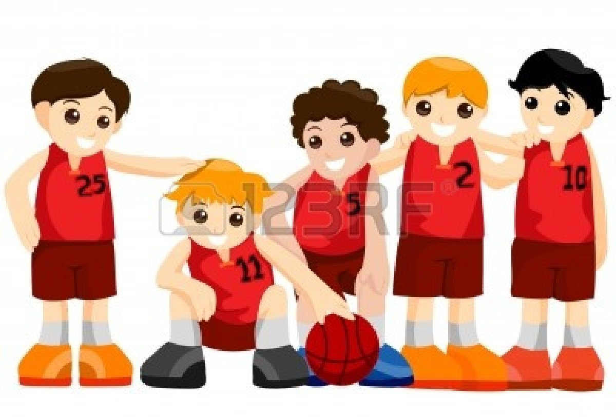 Basketball Team Clipart: Basketball Team-Basketball team clipart: Basketball Team with Clipping-5