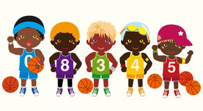 Basketball Teams. Vector Illustration Of-Basketball Teams. Vector illustration of basketball team Royalty Free Stock  Image-12