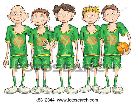 Clipart - Basketball Team. Fotosearch - -Clipart - Basketball Team. Fotosearch - Search Clip Art, Illustration  Murals, Drawings and-14