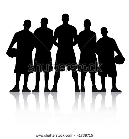 Vector Illustration Of A Basketball Team-Vector illustration of a basketball team-19