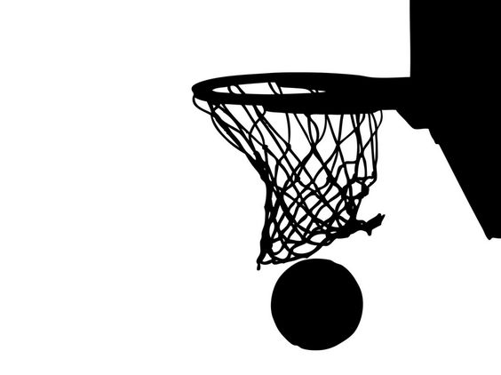 Basketball Through Net Clip Art Large Basketball Hoops Viny