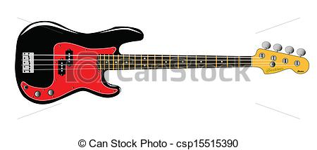 ... Bass Guitar - A generic bass guitar isolated over a white.