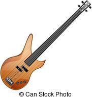 ... bass guitar - bass abstract vector illustration isolated eps... bass guitar Vector Clipartby ...