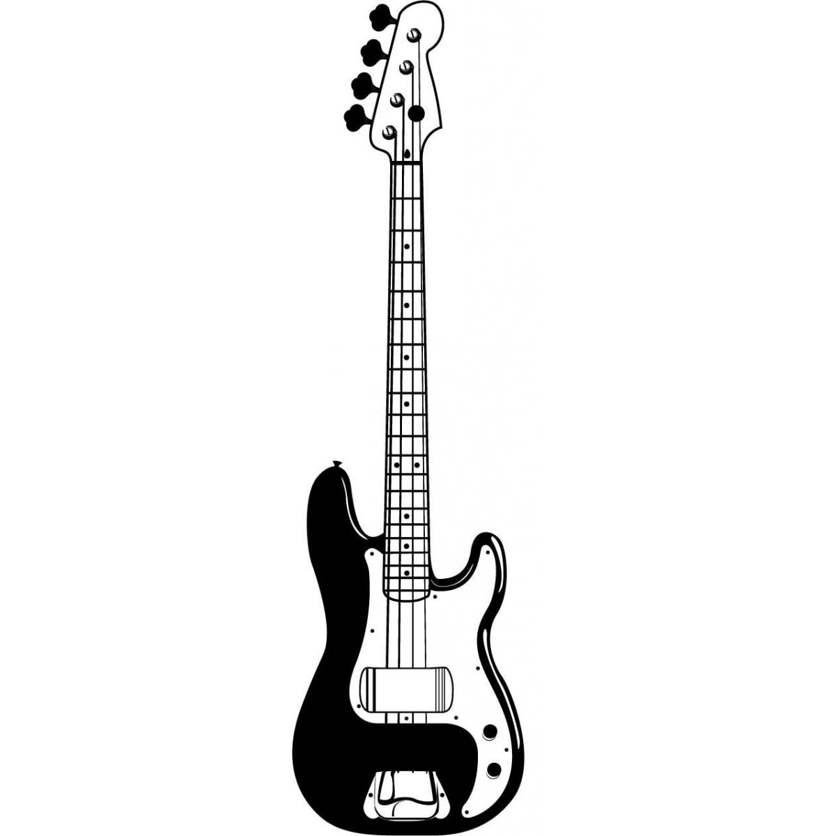 Bass Guitar Clipart. Electric Guitar #3 Sticker