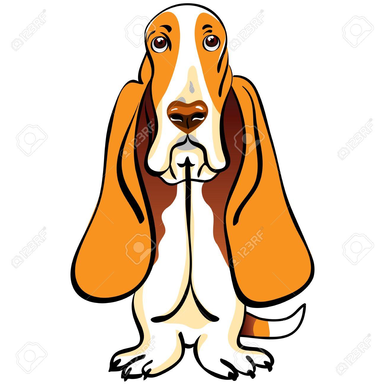 Basset Hound Clipart #1