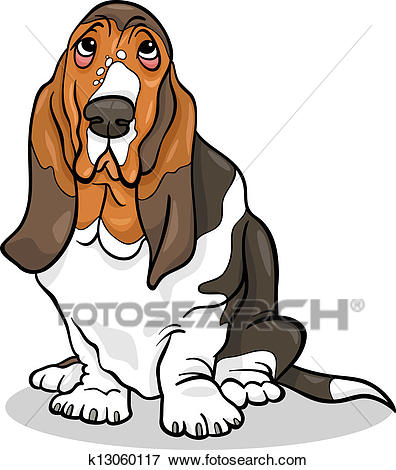 Clip Art - basset hound dog cartoon illustration. Fotosearch - Search  Clipart, Illustration Posters