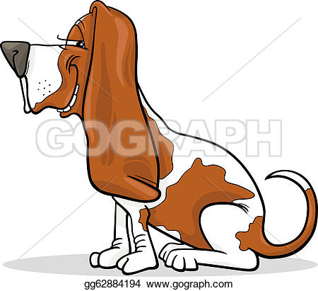 basset hound dog cartoon illustration u0026middot; basset hound dog cartoon illustration
