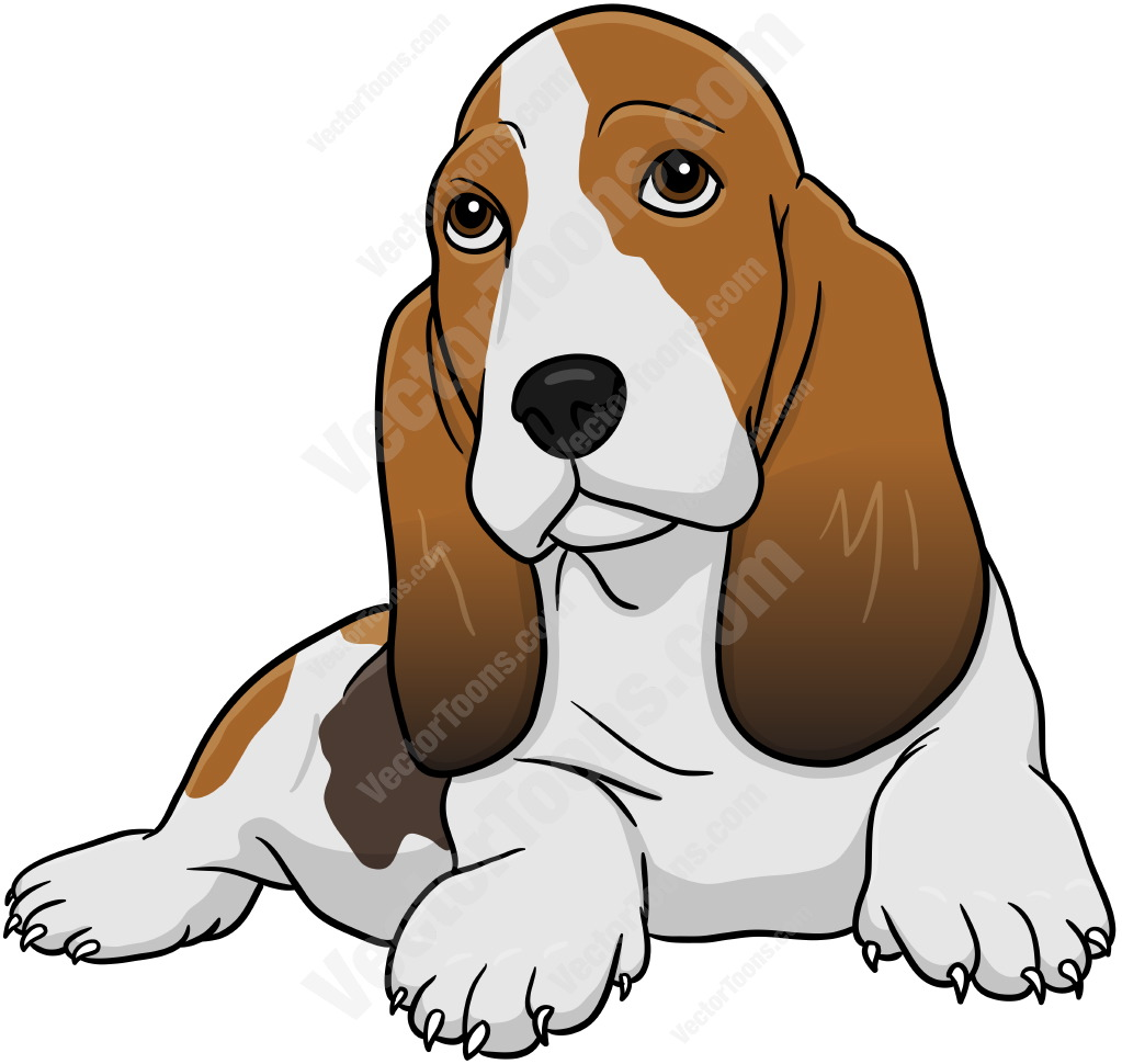 Basset Hound Puppies Clip Art
