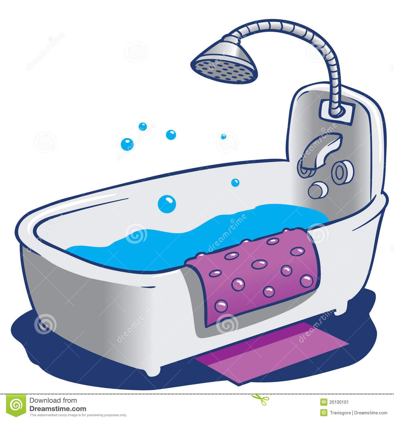 Bath Shower Clipart Bath Tub And Shower