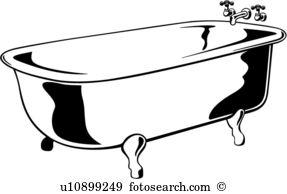 bathroom, bathtub, claw foot, fixture, tub, bath room,. ValueClips Clip Art
