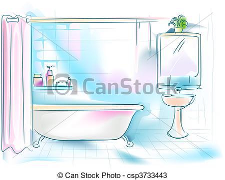 ... Bathroom Illustration