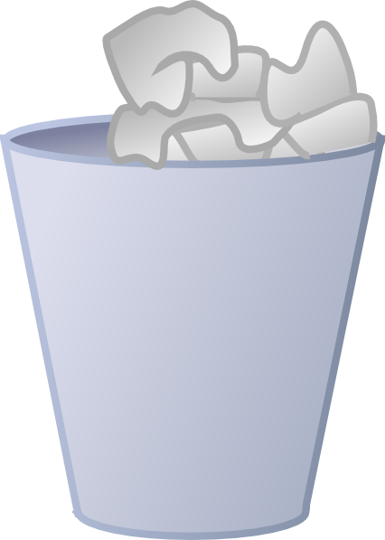 Bathroom Trash Can Clipart