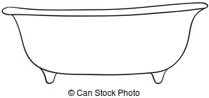 ... Bathtub - Close up plain design of s-... Bathtub - Close up plain design of single bathtub Bathtub Clip Artby ...-15