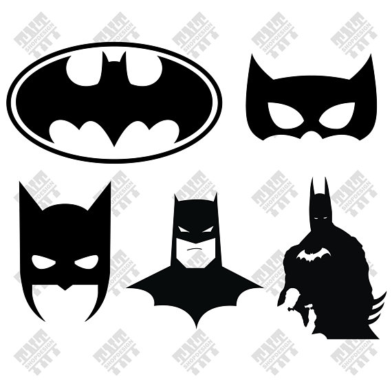 Batman svg - Batman vector - Batman mask svg - Batman digital clipart for  Print, Design or more , files download svg, png, dxf from TNTShopDesign on  Etsy ClipartLook.com