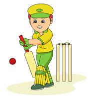Batsman Batting At Cricket Game. Size: 5-batsman batting at cricket game. Size: 51 Kb-1