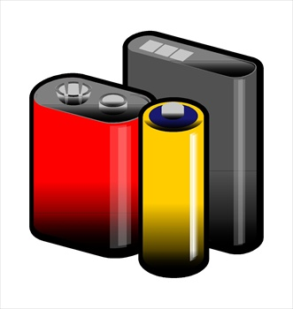 Battery free batteries clipart graphics images and photos