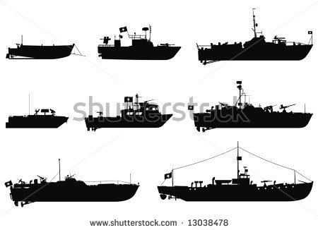 Battleship Game Silhouette .-Battleship Game Silhouette .-14