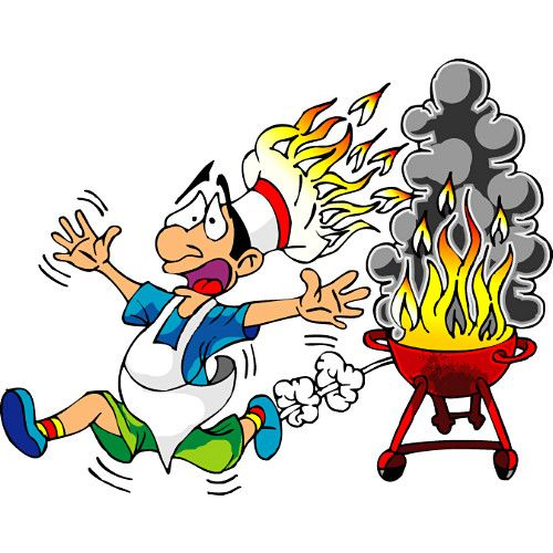 BBQ Cartoon | Funny Barbecue Clipart: Labor Day Weekend Free Clipart/Funny Barbecue .