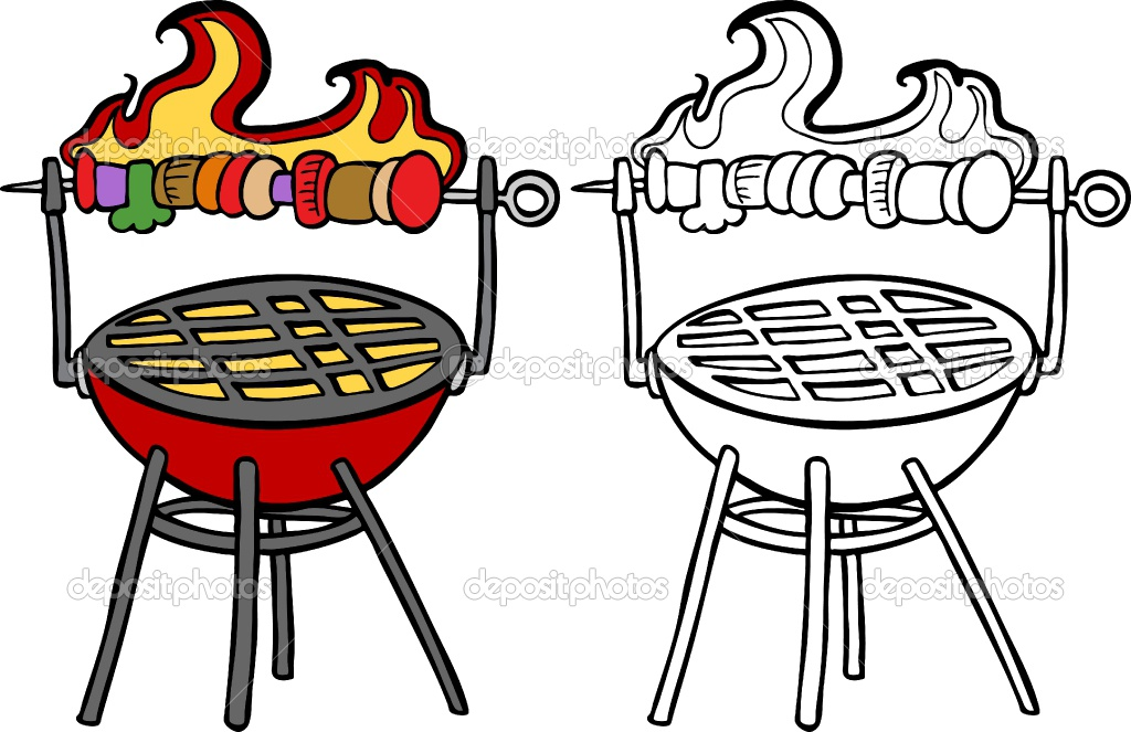 Bbq Grill With Fire Clipart Charcoal Cli-Bbq Grill With Fire Clipart Charcoal Clipart Barbecue Grill Clip Art-15