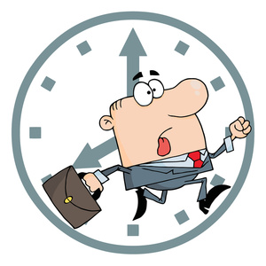 Be On Time Clipart #1