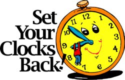 Fall Back Clipart