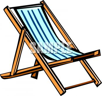 Beach Chair Clipart Black And White-beach chair clipart black and white-0
