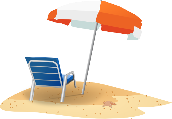 Beach Chair Clipart Black And White-beach chair clipart black and white-1