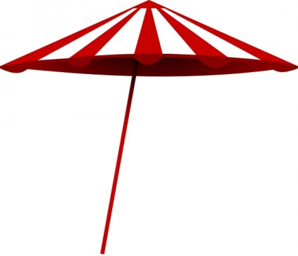 beach umbrella clipart black and white