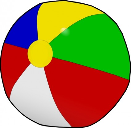 Beach ball clip art Free .