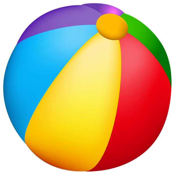 Beach Ball PNG Vector Clipart