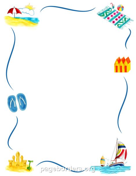 Beach Border - Summer Border Clip Art