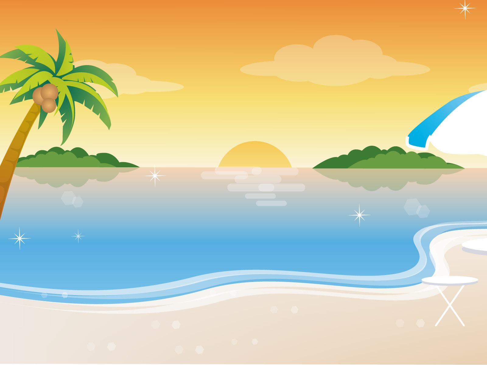Beach Cartoon Background Desktop Image-Beach Cartoon Background Desktop Image-4